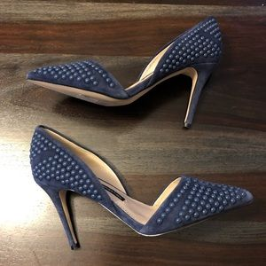 French Connection Ellis studded d'orsay heels